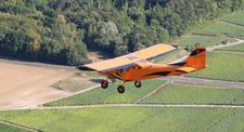 Baptême de l'air en avion à Prunay au dessus des Coteaux du Champagne