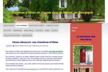 Chambres d'hôtes Domaine des Perrières à Crux-la-Ville (Pascale et Benoit Cointe)