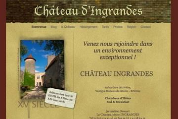 Chambres d'hôtes Château d'Ingrandes à Ingrandes (Jacqueline Drouart)