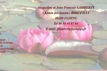 Chambres d'hôtes La Maison de l'Étang à Floing (Jacqueline et Jean Francois Lamberty)