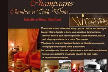 Chambres d'hôtes Champagne à Saint-Mard-Lès-Rouffy (Isabelle et Bruno Mailliard)
