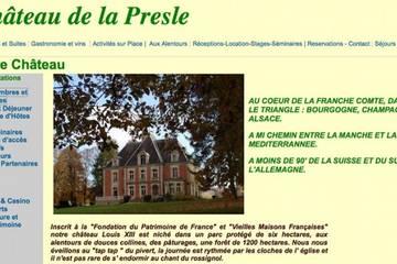 Chambres d'hôtes Château de la Presle à Breurey-lès-Faverney (Marie-France et Geoffrey Smith)
