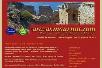 Chambres d'hôtes Domaine de Mournac à Antugnac (Arlette et J-C. Beziau)