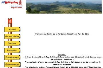 Comité départemental de la randonnée pédestre du Puy de Dôme
