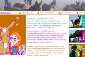 Les Ânes de Vassivière : randonnée âne en famille