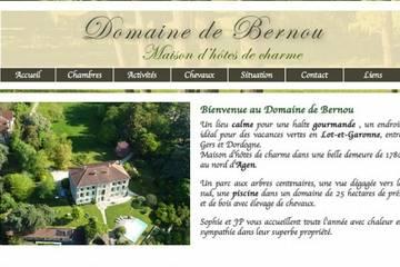 Chambres d'hôtes Domaine de Bernou à La Croix-Blanche (Sophie et Jean-Pascal Michez)