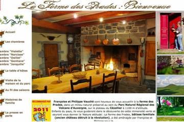 Chambres d'hôtes Ferme des Prades à Landeyrat (Françoise et Philippe Vauché)