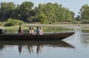 Descente nocturne de la Loire en bateau