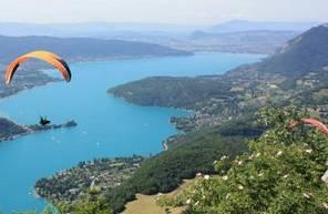 Baptême en Parapente au Lac d'Annecy