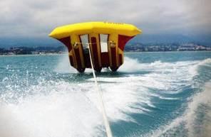 Bouée tractée FlyFish et balade en Kayak près d'Antibes