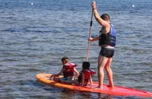 Balade en Paddle ou en pédalo sur le lac de l'aréna près de Frejus