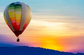 Vol en montgolfière au-dessus du Beaujolais près de Lyon