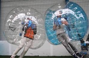 Partie de Bubble Bump à Rennes