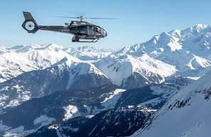 Baptême en hélicoptère - Vol privé pour 5 à Megève avec vue sur le Mont Blanc