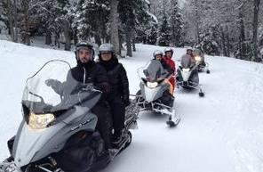 Sortie promenade en motoneige à Barèges dans les Pyrenées