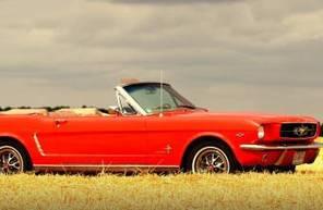 Pilotage sur Route en Mustang Coupé de 1965 près d'Avignon