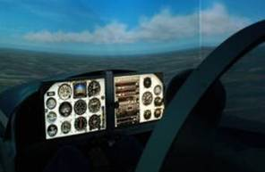 Simulateur de vol en avion au Mans