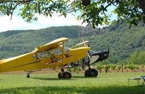 Pilotage d'un ULM près de Sarlat