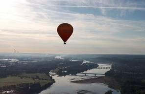 Vol en Montgolfière au dessus de l'Anjou près de Saumur