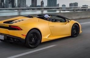 Pilotage sur Route d'une Lamborghini Huracan près de Lille