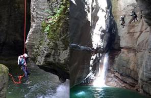 Descente du Canyon du Pont du Diable près d'Annecy