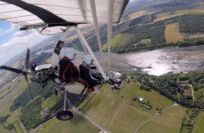 Vol en ULM pendulaire près de Blois au dessus de la Loire et ses Châteaux