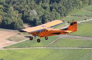 Baptême de l'air en avion ultra léger à Prunay au dessus des Coteaux du Champagne