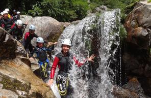 Descente en Canyoning du Canyon de la haute borne en Ardèche