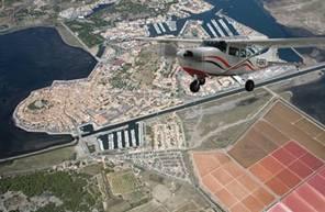 Stage de pilotage en avion près du littoral et Carcassonne