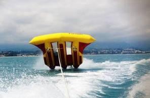 Bouée tractée Flyfish et balade en Kayak à Cagnes-sur-Mer