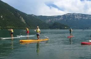 Journée en VTT électrique, Canoë et Paddle à Chambéry