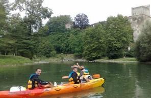 Canoë biplace en eau vivre à Sorde-l'Abbaye dans les Landes