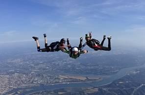 Saut d'initiation PAC en parachute près d'Avignon