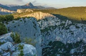 Bivouac en paroi près d'Avignon