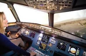 Simulateur d'avion Airbus A320 près de Caen