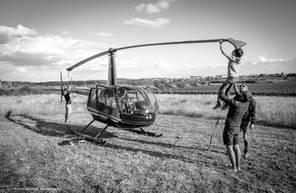 Vol en Hélicoptère au-dessus du Vaucluse vers Avignon