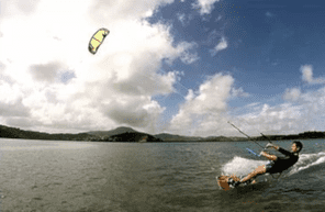 Cours de KiteSurf en Martinique dans la Baie des Mulet