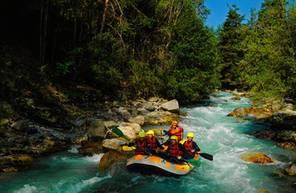 Descente en Rafting dans les Alpes à Serre Chevalier