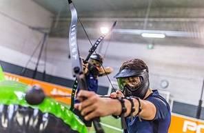Partie d'Archery Tag à Frejus