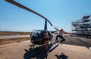 Baptême en Hélicoptère dans les Alpes - Vol en hélicoptère à Valensole