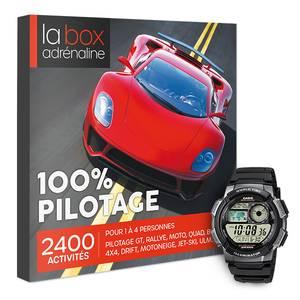 Coffret cadeau La Box Adrénaline 100% Pilotage et montre Casio