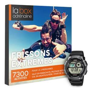 Coffret cadeau La Box Adrénaline Frissons extrêmes et montre Casio