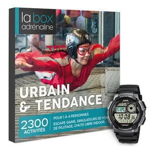 Coffret cadeau La Box Adrénaline Urbain & Tendance et montre Casio