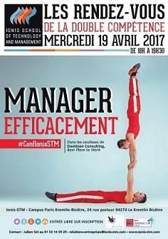Conférence organisée par Ionis-STM: Manager efficacement