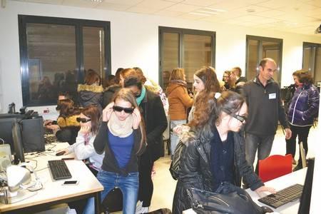 Des élèves du lycée Lafayette à la découverte de la réalité virtuelle à l'ISIMA