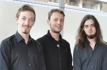 Tim Burdairon, Marvin Mottet et Fabien Borel en 3e année à Epitech