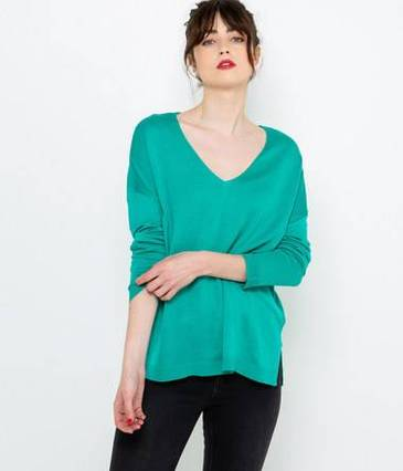 Pull fin loose femme