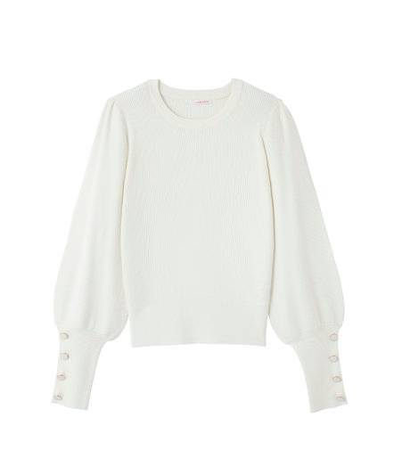 Pull manches ballons femme