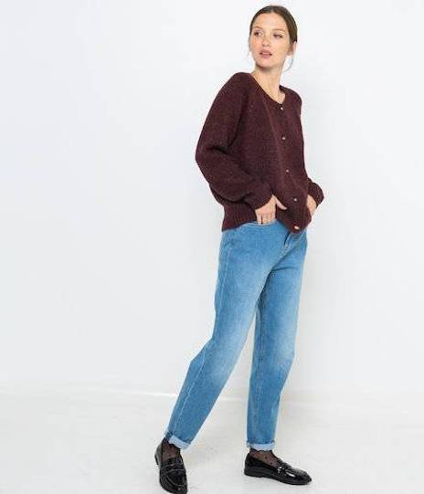 Gilet maille recyclée femme