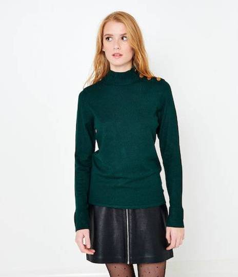 Pull col cheminé femme